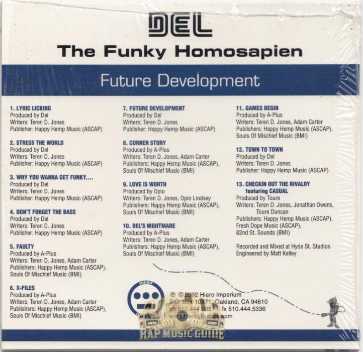 Del the Funky Homosapien - Future Development (Back)